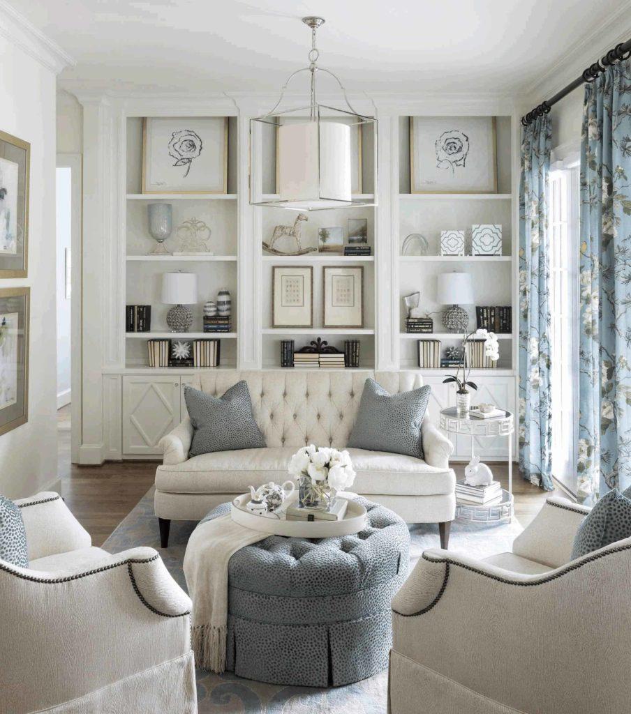 sala branca com decoracao classica