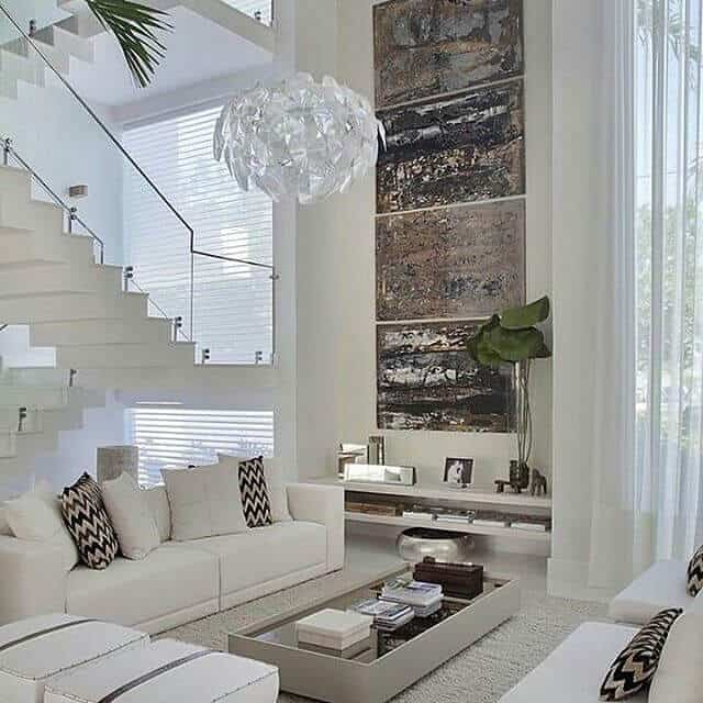 sala branca de luxo