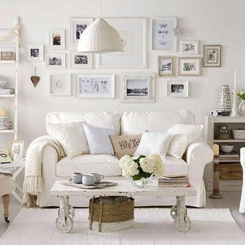 sala branca vintage
