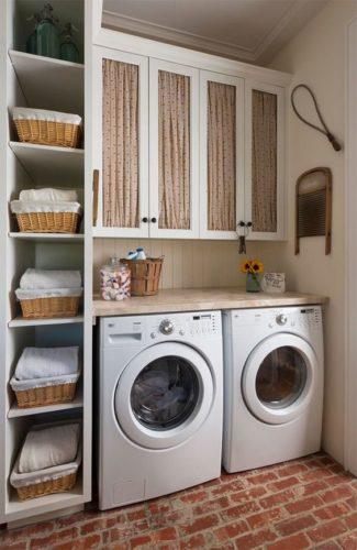 decoracao diferente na lavanderia