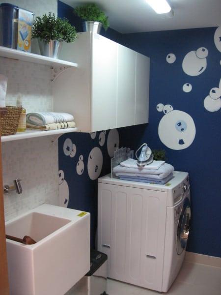 lavanderia em casa com decoracao divertida