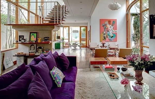 11 sofa roxo escuro sala grande