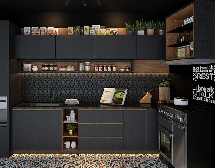 cozinha preta super moderna