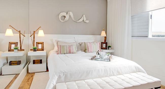 Apartamento decorado com cores claras