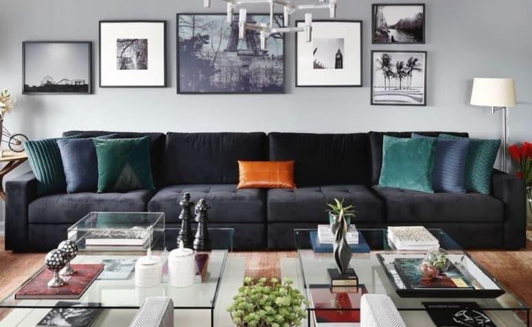 como usar sofa preto