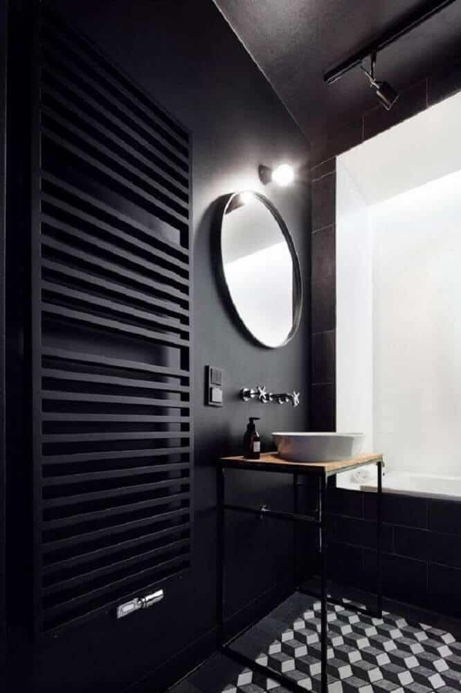 decoracao de banheiro preto