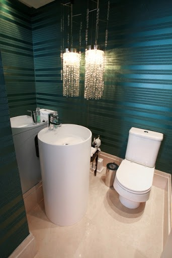 luminaria pendente no lavabo