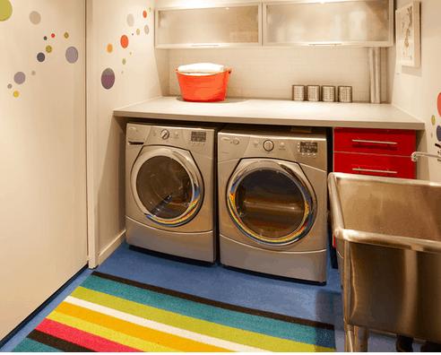 Área de serviço simples e colorida
