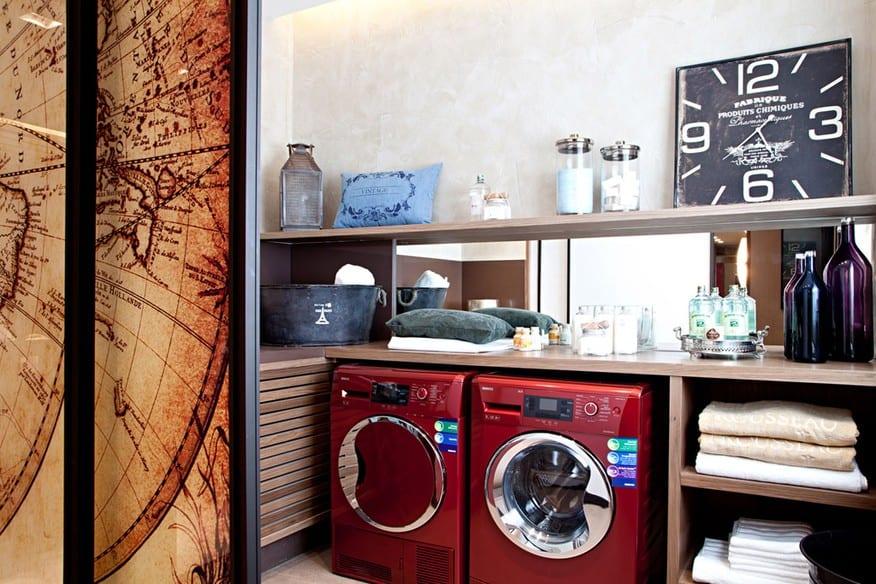 Decoração moderna na lavanderia