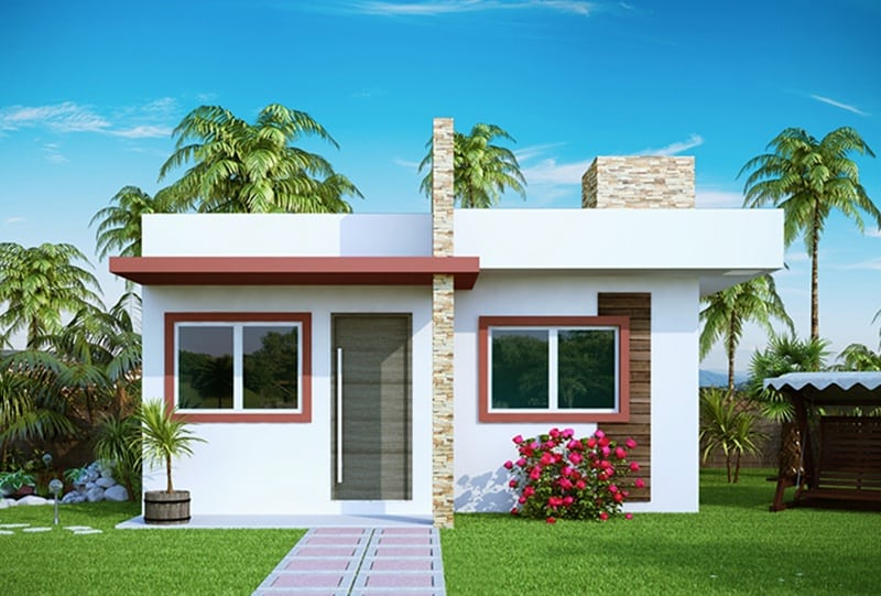 15 ideias de fachadas para sobrados pequenos e duplex fotos for Modelos de casas chiquitas pero bonitas