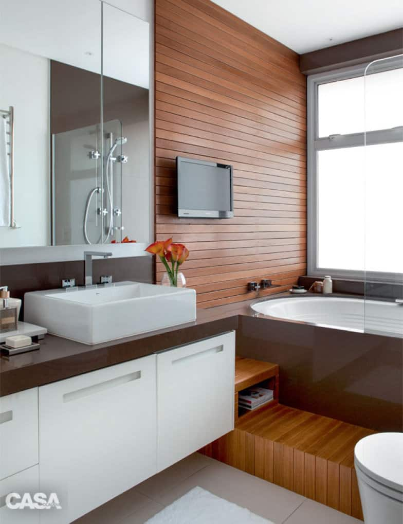 06 banheiro moderno com banheira oval