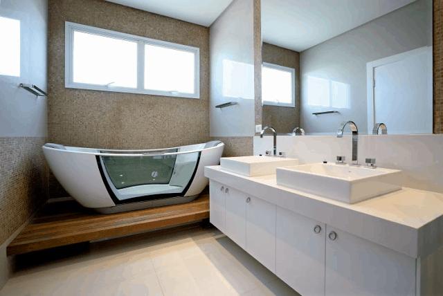 12 banheiro com banheira de design diferente