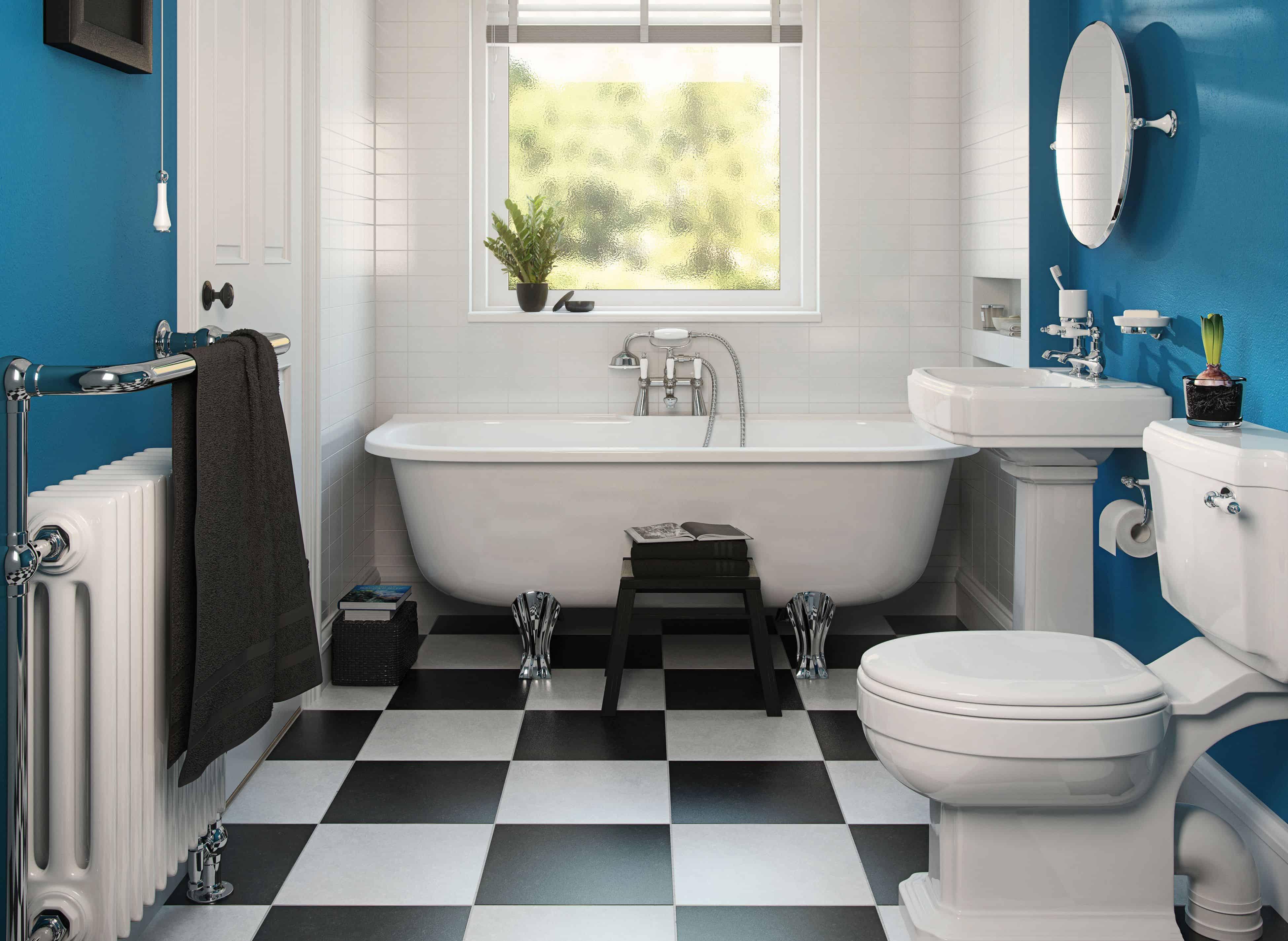 26 Banheiro com banheira classico antigo