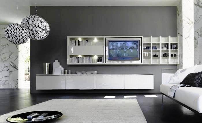 30 sala c piso preto e movel branco