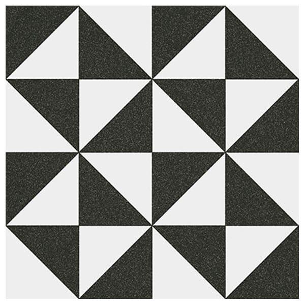 ceramica hidraulica 20x20 preta e branca colormix