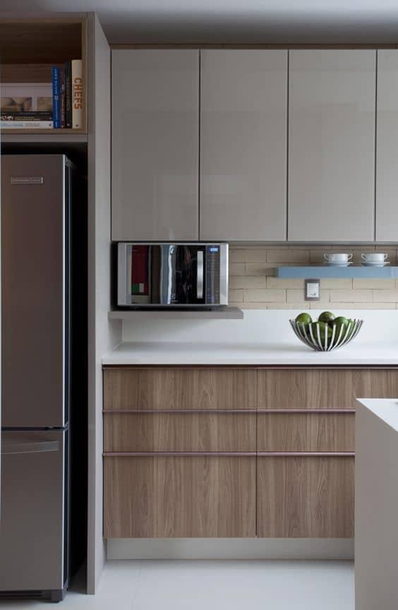cozinha moderna com pedra branca