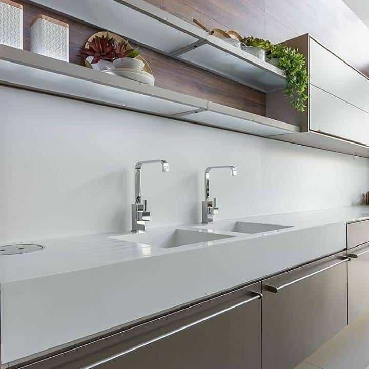 ideias para bancada de cozinha branca