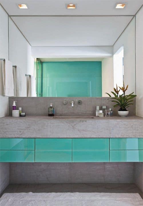 1 movel de banheiro verde moderno