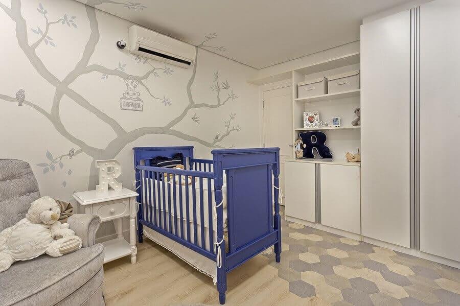 berco para o quarto de bebe azul