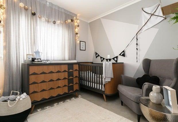 berco preto e madeira decoracao moderna