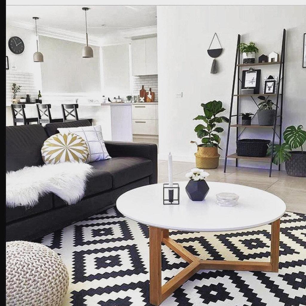decoracao pinterest de sala preto e branca