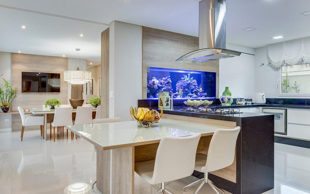 ideias para usar aquario na decoracao elegante