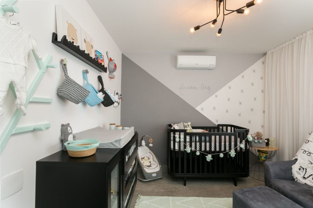 quarto de bebe menino com moveis pretos