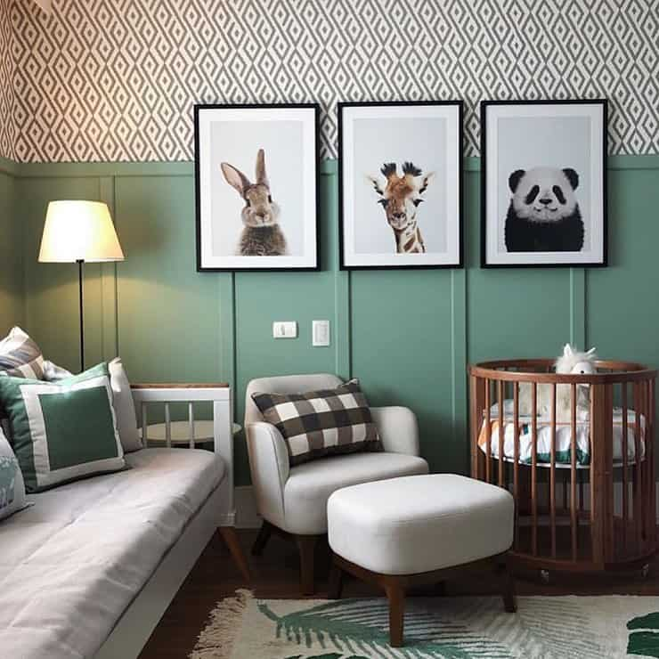 quarto de bebe menino divertido selva
