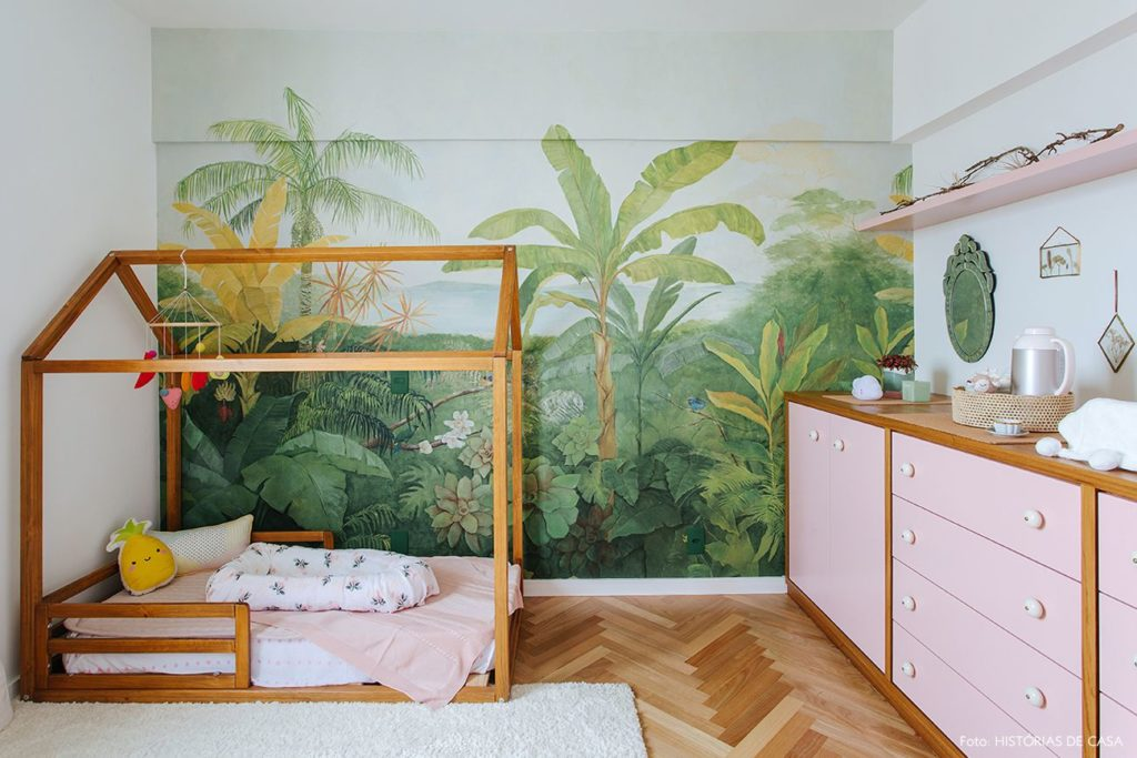 quarto de menina com tema selva