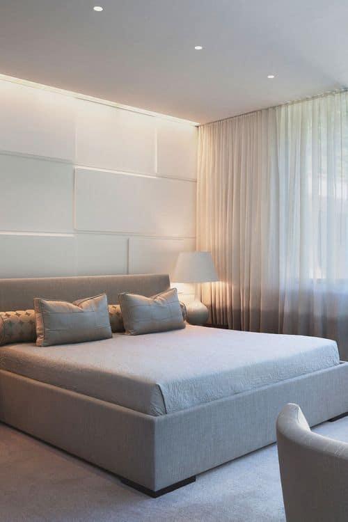 quarto com revestimento 3d branco moderno