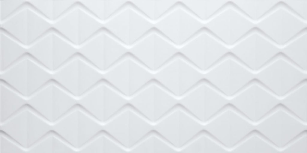 revestimento branco 3d da eliana para banheiro