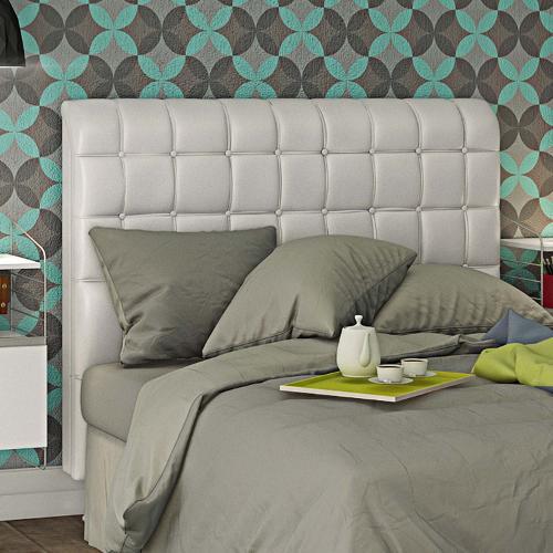 Cabeceira capitonet branca cama queen