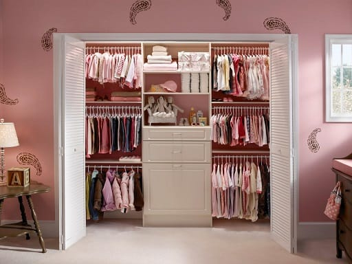Closet embutido infantil para meninas