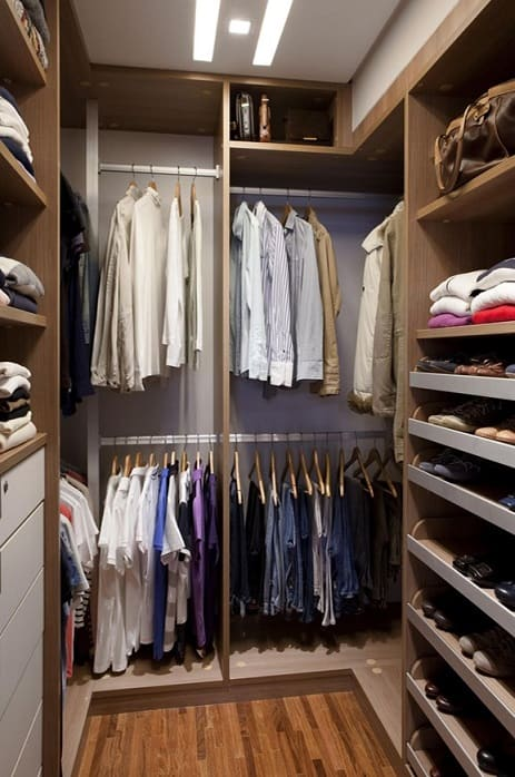Closet masculino simples e moderno