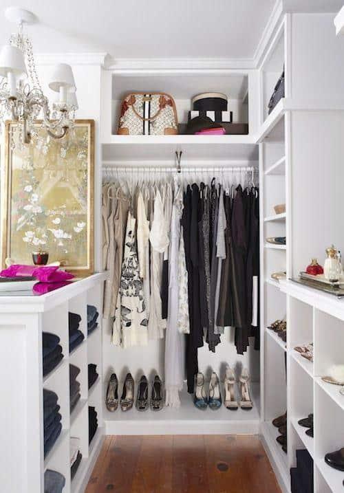 Projeto de closet sob medida integrado com o quarto