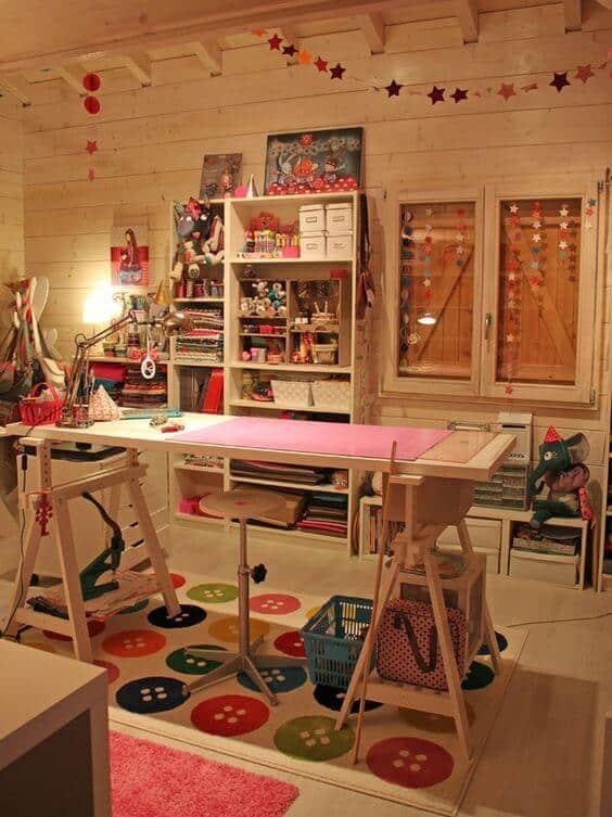 ideia para decorar atelie de costura