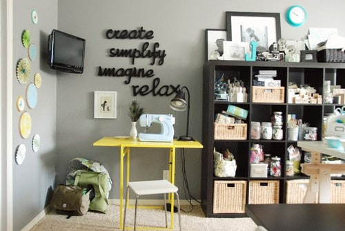 ideia para organizar um atelier pequeno em casa