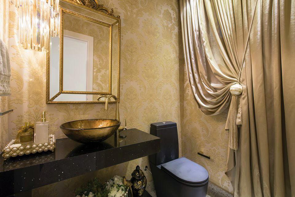 lavabo classico com vaso preto
