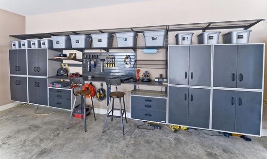 armarios para organizar caixas na garagem