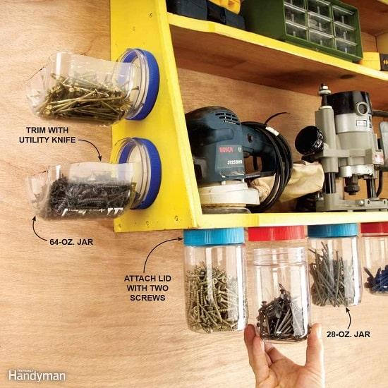 Como organizar pregos e ferramentas na garagem