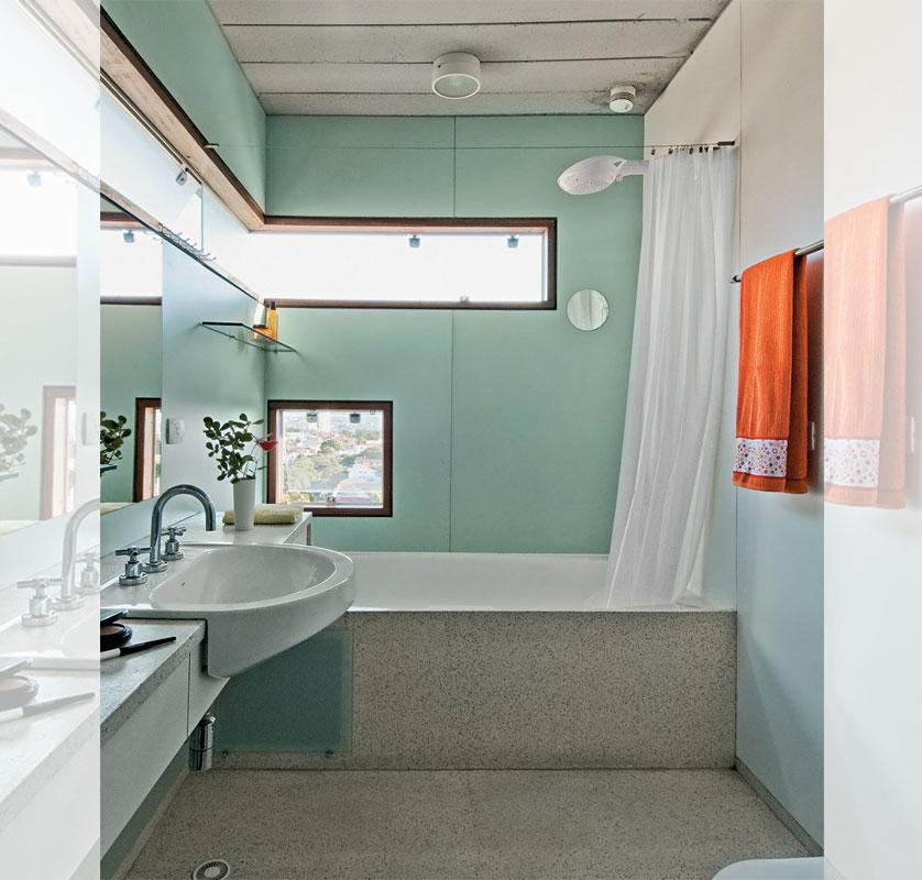 paredes verde no banheiro