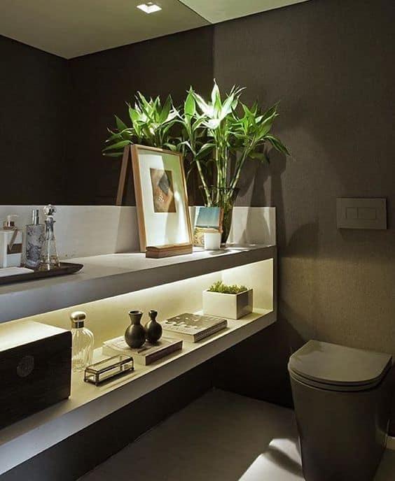 Ideias de objetos de decoração para colocar no lavabo
