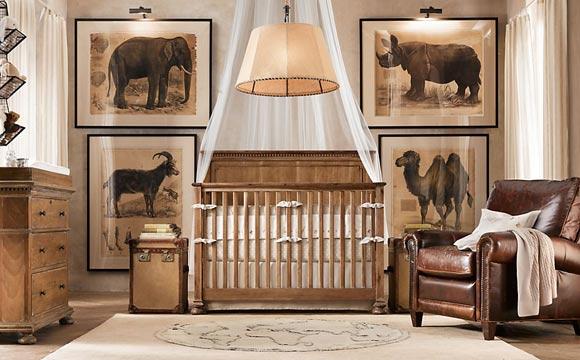 Quarto de luxo com tema safari pequeno