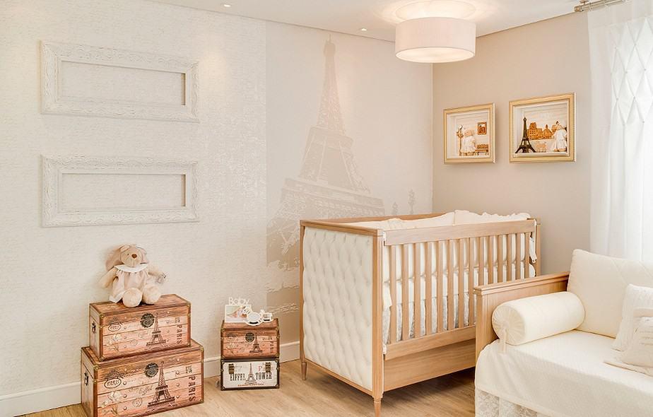 Decoração provençal para bebê com tema Paris