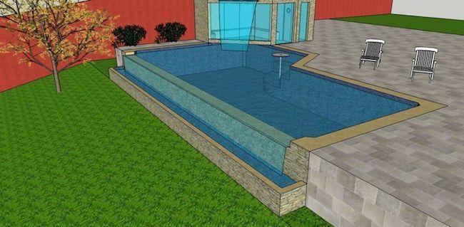 projeto de piscina com borda infinita