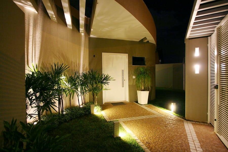 ideias para iluminar a entrada de casa