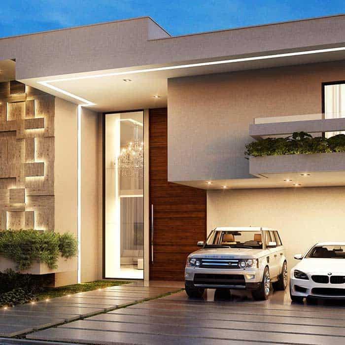 iluminacao moderna na fachada