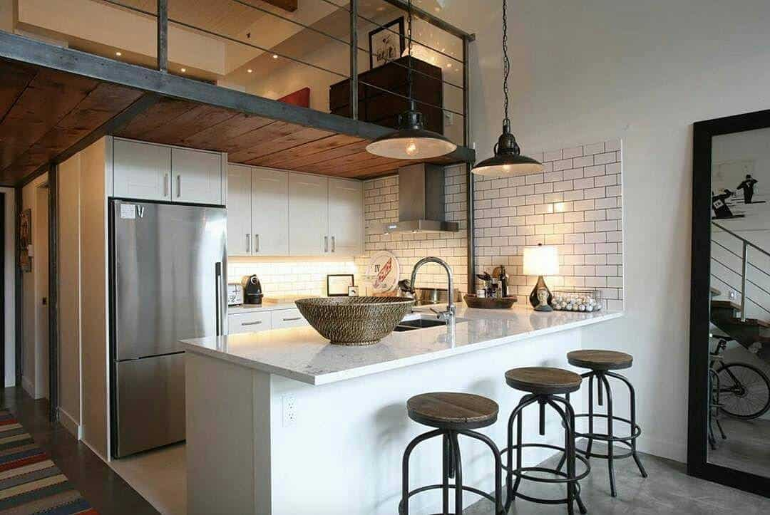 cozinha com decoracao industrial