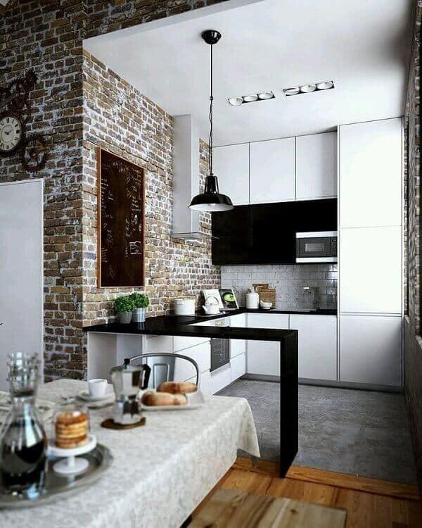 cozinha moderna e rustica