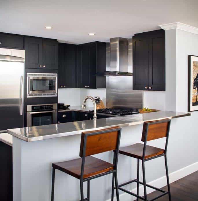 cozinha sob medida moveis pretos